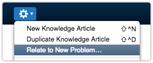 Relate knowledge article to new problem
