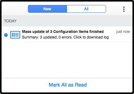 Notification after mass update