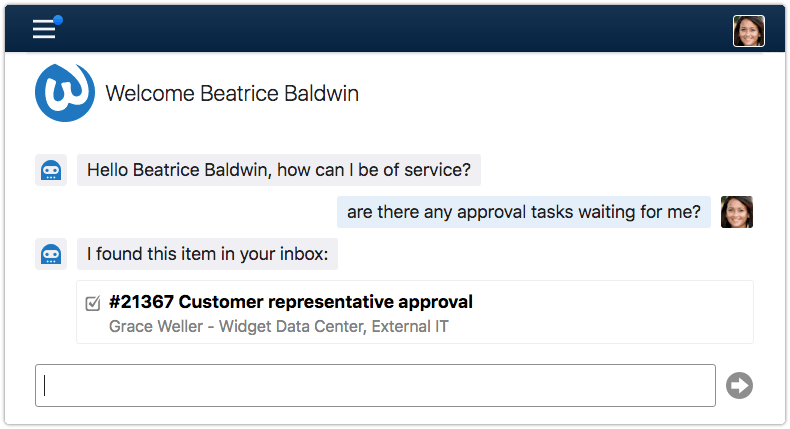 End user asking whether there are approval tasks