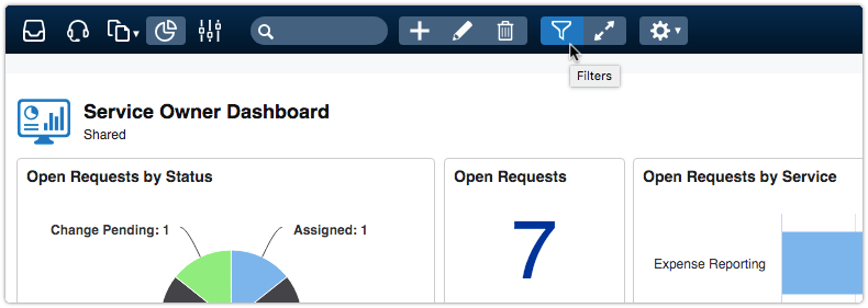 Dashboard filters of dashboard hidden in View mode