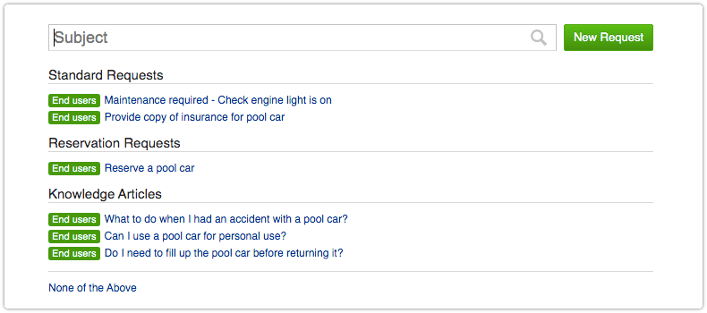 Reservation request in 4me Service Desk console