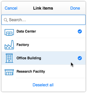 Select multiple values in a custom select field