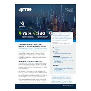 4me success story - Prosus Group
