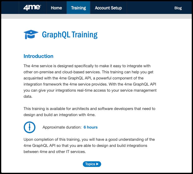 4me GraphQL Training