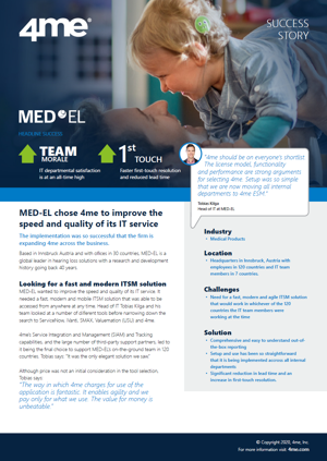 4me success story - MED-EL