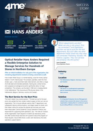 4me - Hans Anders success story