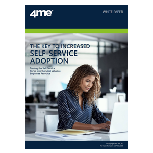 4me whitepaper - The key to increased self service adoption