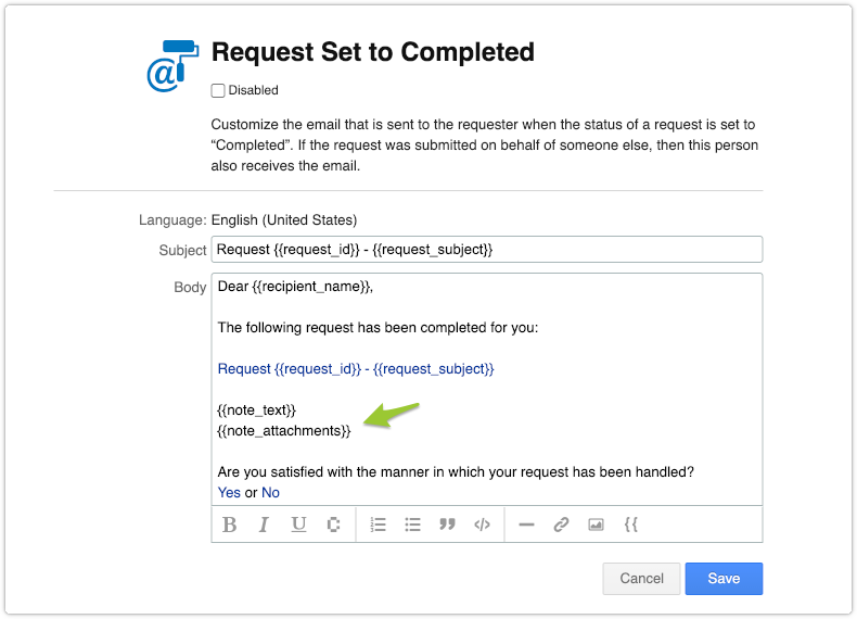 Request template with note_attachments field added