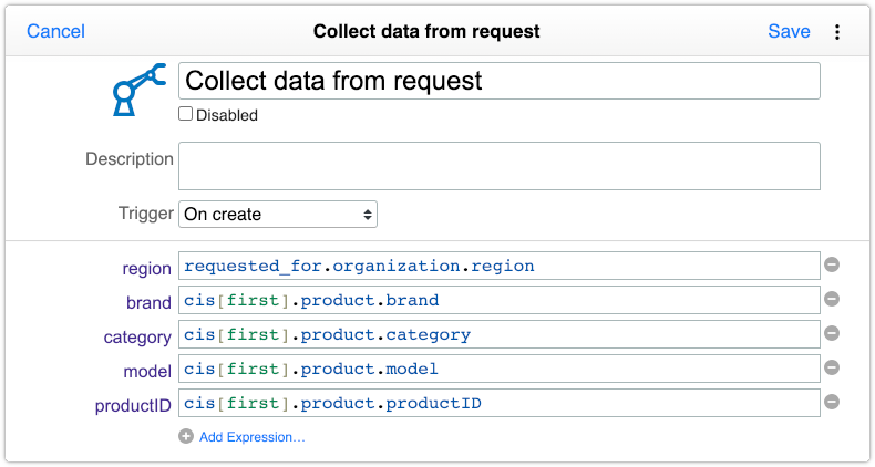 Automation rule with organization and product fields