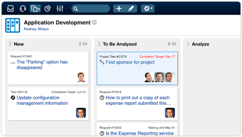 Place project tasks on agile board