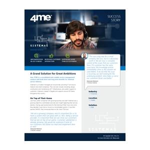 4me success story - sistemas
