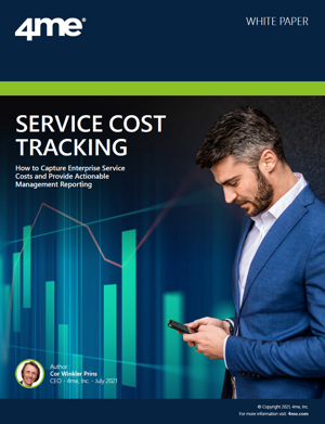 4me whitepaper - Service cost tracking