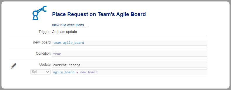 Automation rule agile board