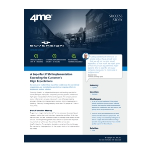 4me success story - sovereign speed