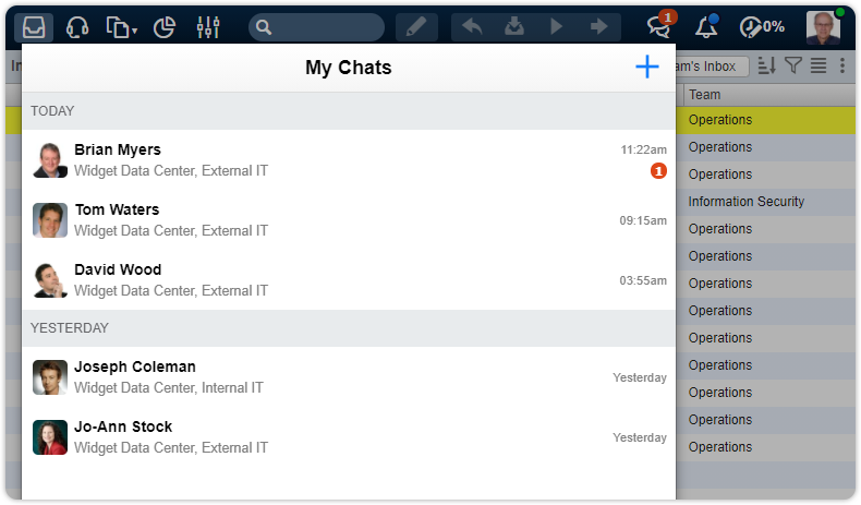 Chat feature my existing chats