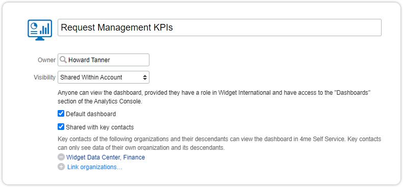 Edit dashboard sharing key contacts