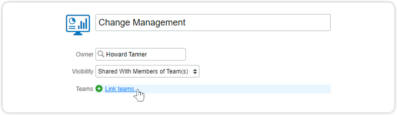 Share dashboard with team