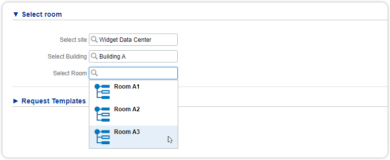 UI extension with custom suggest tree